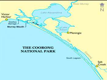 Coorong National Park Map