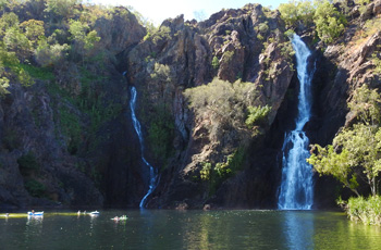 Swim in the waterfalls on our Outback Tours