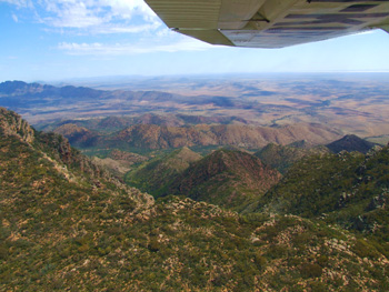 Flinders Ranges Scenic Flights available on our tours