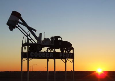 Coober-Pedy-Blower-Truck-at-Sunset