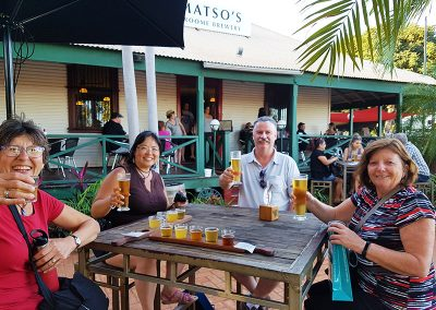 Beer Tasting in Broome after our Kimberley Tour