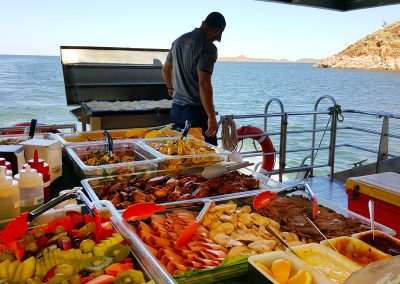 Lunch on Lake Argyle