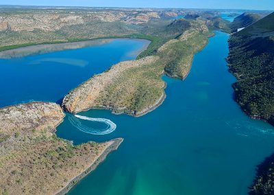 Arial View of the Horizontal Falls
