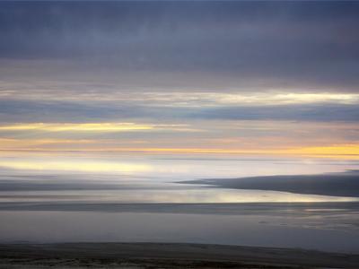 Sunrise Flight over Lake Eyre