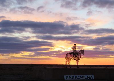 Sunset and Overnight Stay at the Prairie Hotel in Parachilna
