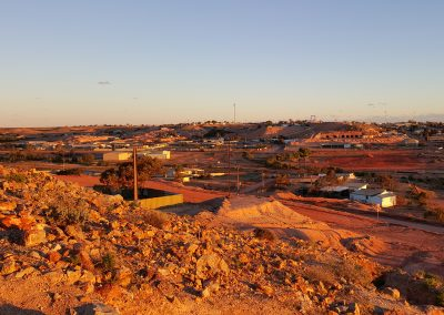 Sunset over Coober Pedy
